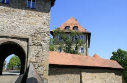 Fürstenhaus und Torturm der Burg Hohenberg
