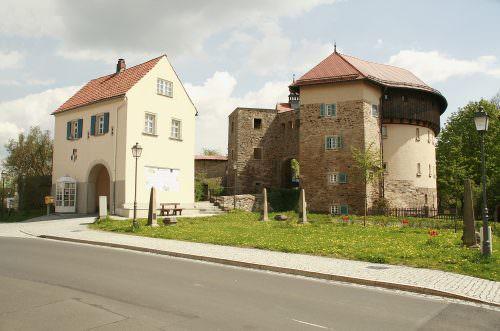 Burg Hohenberg Außenansicht des Eingangsbereiches